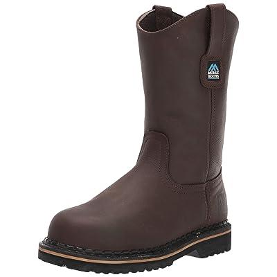 MCRAE Men's Mid Calf Boot, Brown/Brown4, 7 W US | Industrial & Construction Boots