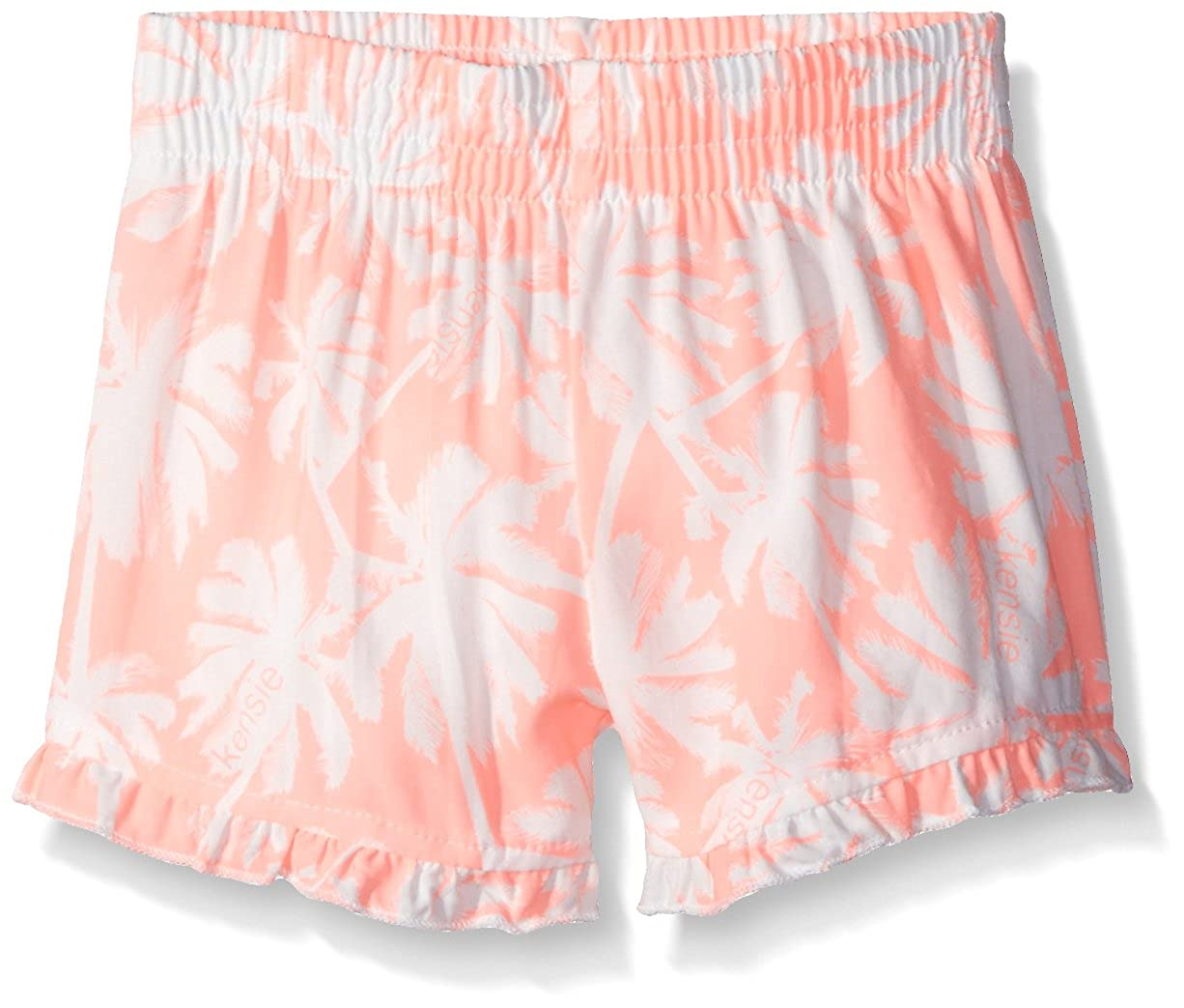 kensie Little Girls' Casual Short, 1318 Neon Light Coral, 4 S21308NDKN