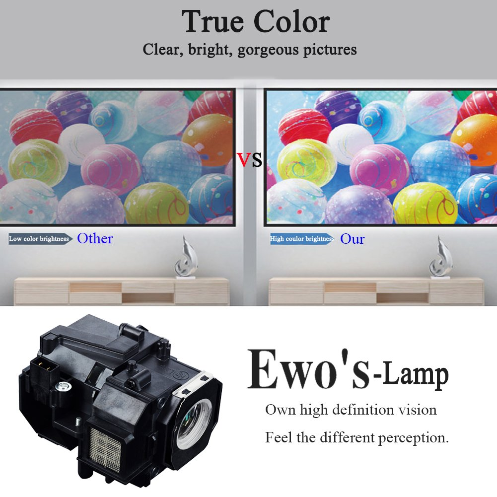 EWOu0027S HC8350 Lamp Bulb For PowerLite Home Cinema 8350 Epson Projector Lamp  Bulb   ELPLP49 / V13H010L49101 U003c Lamps U003c Office Products   TIBS