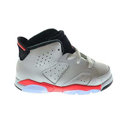 3830a1e61c5ccb Air Jordan 6 Retro (BT) Baby Toddlers Basketball Shoes White Infrared-Black