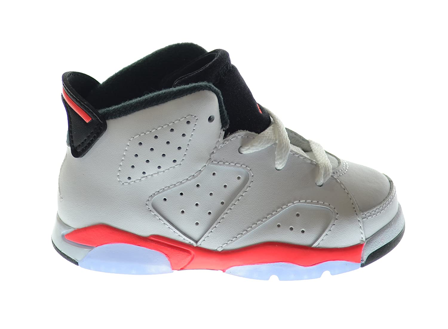 Amazon.com | Air Jordan 6 Retro (BT) Baby Toddlers Basketball Shoes  White/Infrared-Black 384667-123 | Sneakers