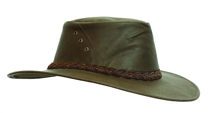 a96d8578bac34 Kakadu Australia Darwin Traveller Leather Hat-Kangaroo Leather Made ...