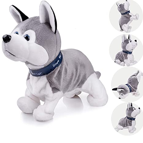 ed3f237c3 Interactive Puppy Plush Animated Pet Electronic Dog Cute Robot Dog Baby  Toys Touch Control Plush Husky