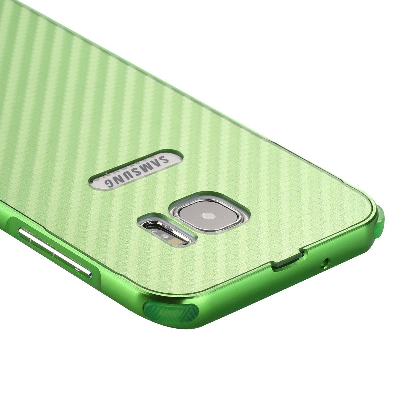 Coque Samsung Galaxy S7 Luxe Argent,M/étal Bumper Housse,Slynmax Cristal Clair Etui Aluminium Pare-Choc et PC Arriere Rigide Coque Ultra Mince Lisse M/étal Cool Etui Couverture pour Samsung Galaxy S7