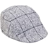 0589fc77ca4 Mens Marc Darcy Tan Tweed Check Print Flat Cap available in S M or L ...