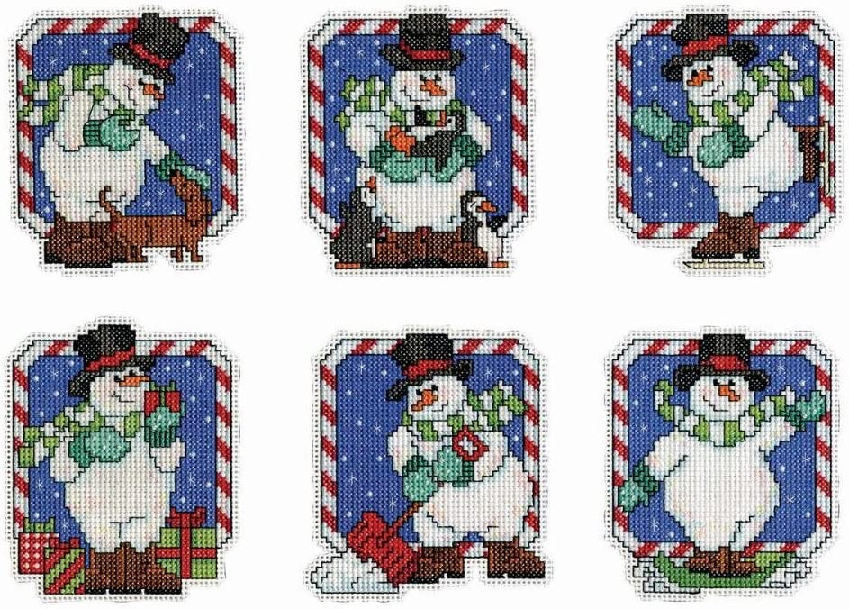 """Tobin Signs Of Christmas Ornaments Counted Cross Stitch Kit-3.5/""""X4/"""" 14 Count Set"""