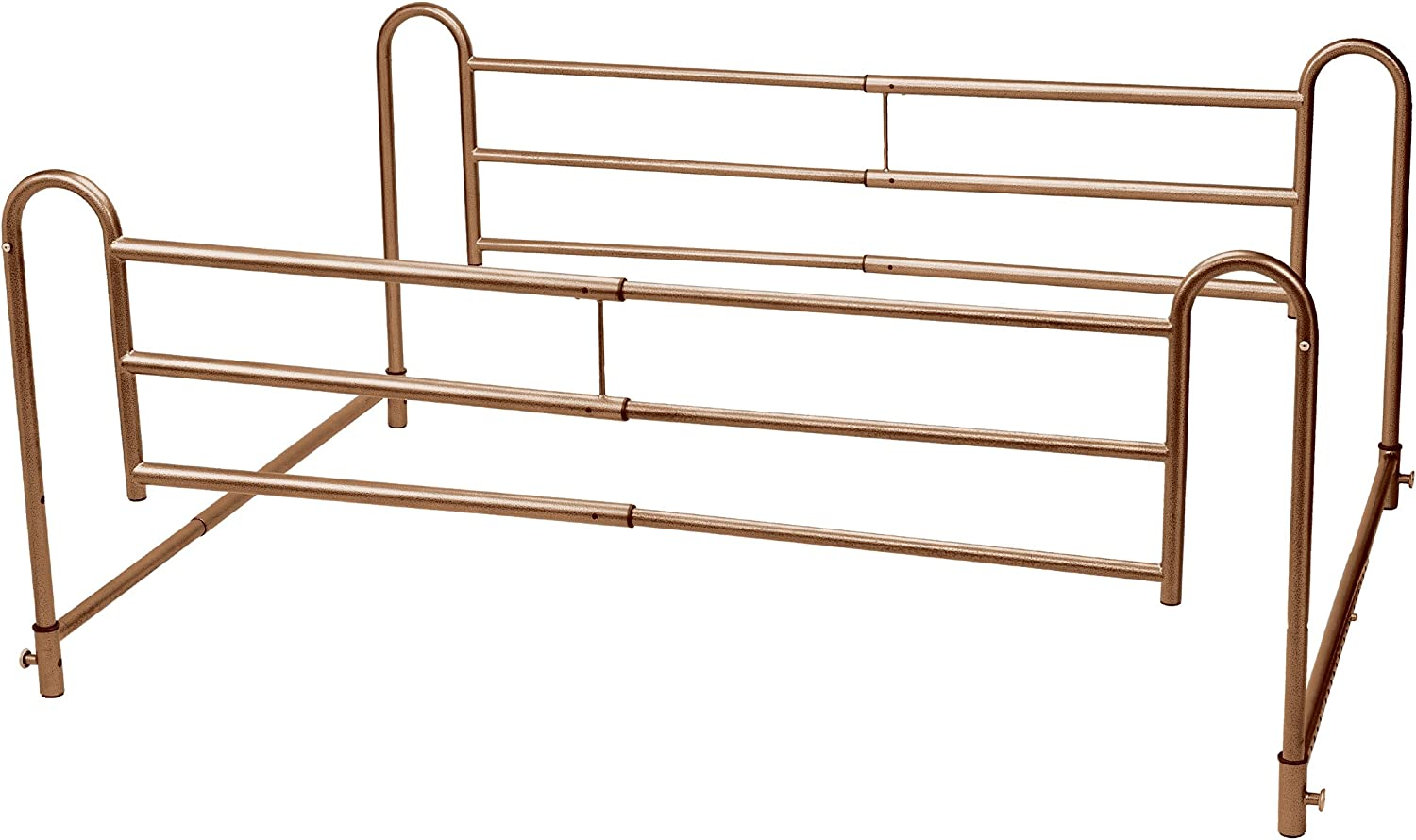 Drive Medical Home Bed Style Adjustable Length Bed Rails, Brown Vein: Health & Personal Care