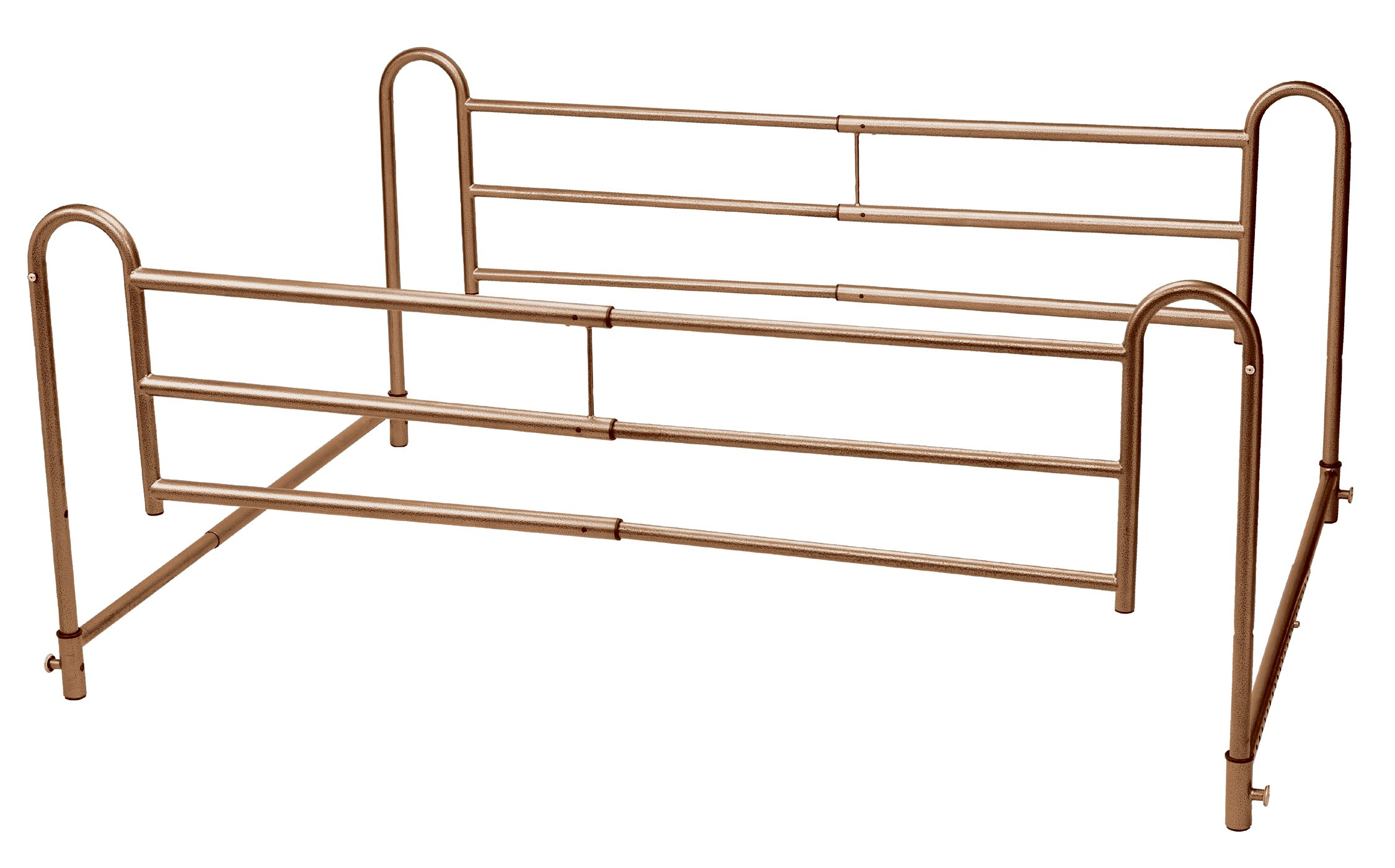 Drive Medical Home Bed Style Adjustable Length Bed Rails, Brown Vein by Drive Medical