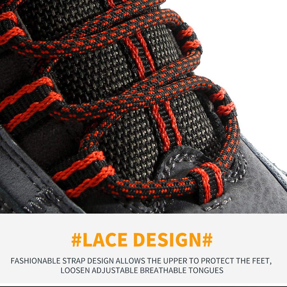 YANVHA Chaussures de randonn/ée Chaussures de Marche pour Hommes imperm/éable r/ésistant /à lusure des Chaussures de Sport Anti-d/érapage des Bottes de Travail de Montagne Chaussure de Course