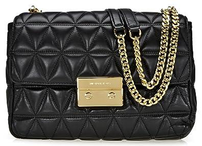 176e1292ec05 Michael Kors Sloan Extra Large Leather Quilted - Shoulder Bag - Black -  30S7GSLL4L-001