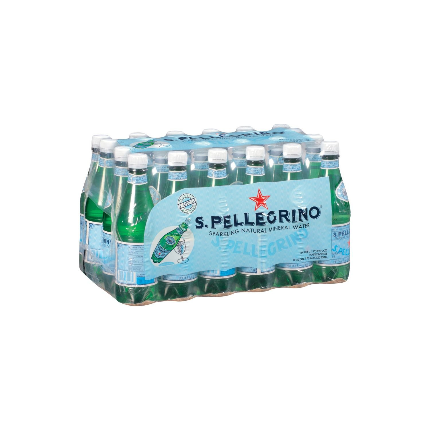 S.Pellegrino Sparkling Natural Mineral Water (0.5 L bottles, 24 ct.) (pack of 6)