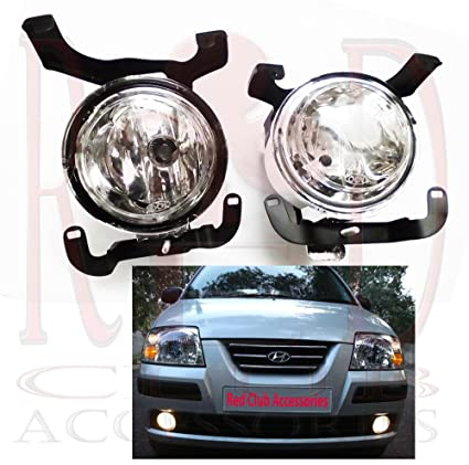 Redclub fog light clear colour for hyundai santro xing with a fuel tank