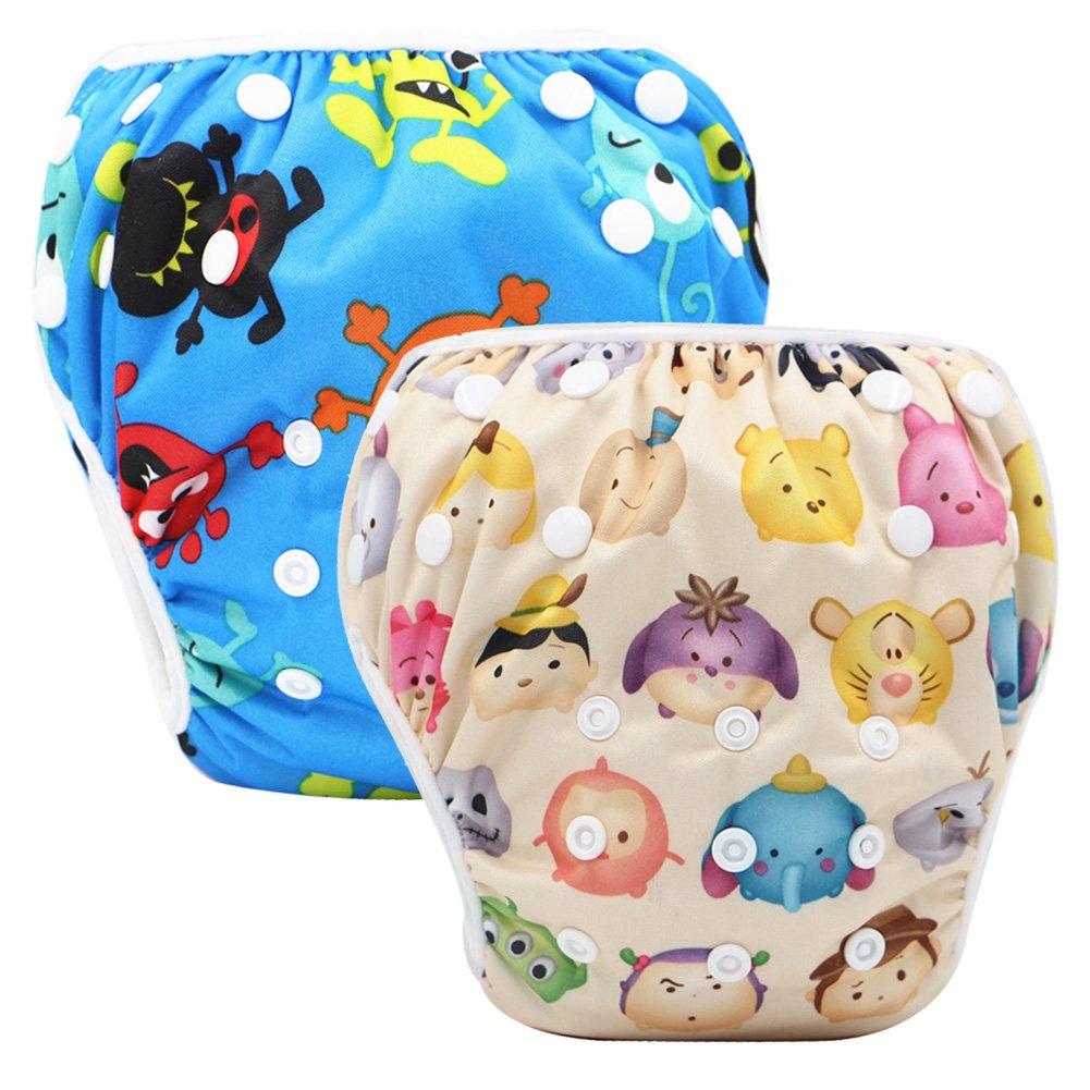 Storeofbaby Pannolini da nuoto Baby pannolini riutilizzabili Cover impermeabile per 0-36 mesi Unisex Confezione da 2 Swim Diaper_37_36_EU