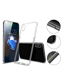 Hetcher Tech Premium Carcasa iPhone X Transparente ...