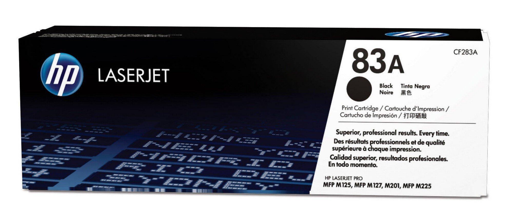 HP CF283A 83A Original LaserJet Toner Cartridge, Black, Single Pack