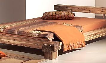 Schlafzimmer Akazie | Modular Cal140 41 Bett Cali 140 X 200 Cm Akazie Massiv Natur