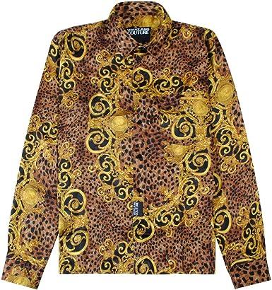 Versace Jeans Couture Camisa estroca Impresa Multi Coloured Extra Large: Amazon.es: Ropa y accesorios