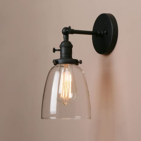 Pathson Indoor Wall Lighting Fixtures with Switch, Industrial ...