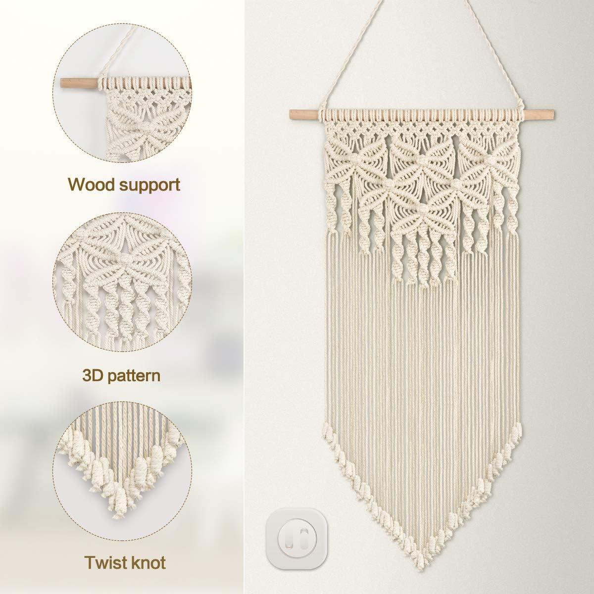 Wreath Tapestry Weave Wall Art Door hang Nordic Cream Circle Weave Wall Hang