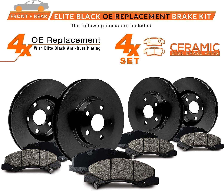 E-Coated OE Rotors + Ceramic Pads Max Brakes Front /& Rear Elite Brake Kit Fits: 2014 14 2015 15 2016 16 Toyota Venza KT078603