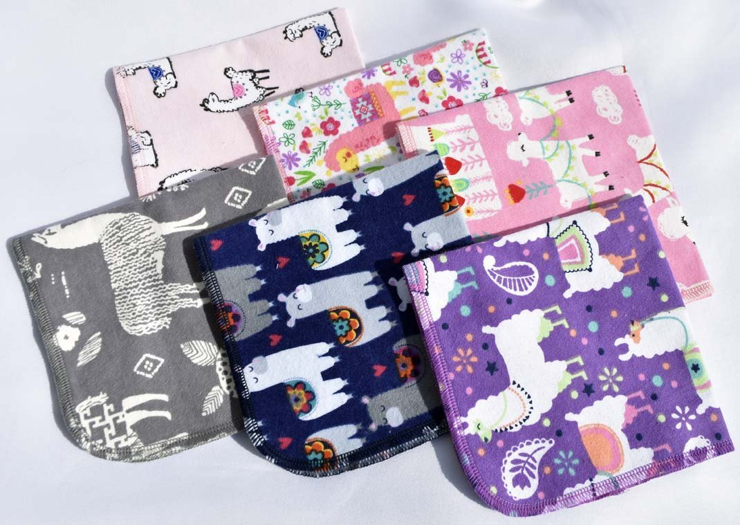 1 Ply Printed Flannel Llama and Alpaca Set Napkins 12x12 inches 5 Pack - (R) Flannel