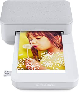 "HP Sprocket Studio Photo Printer – Personalize & Print, Water-Resistant 4x6"" Pictures (3MP72A)"