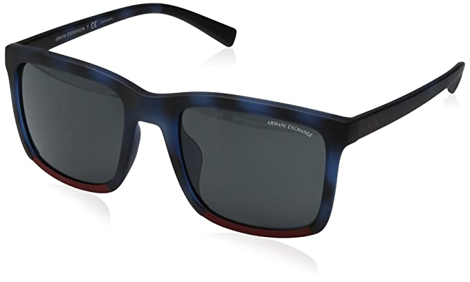 Armani Exchange - anteojos de sol cuadradas para hombre inyectadas ... ceb530e85b75