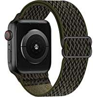 OHCBOOGIE Stretchy Solo Loop Strap Compatible with Apple Watch Bands 38mm 40mm 42mm 44mm ,Adjustable Stretch Braided…
