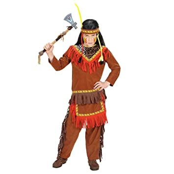 WIDMANN Iden - Disfraz de indio para niño, talla 8-10 años (58747 ...