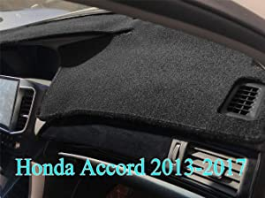 AKMOTOR Dash Cover Fit for Honda Accord 2013 2014 2015 2016 2017,Dashboard Cover Pad Mat (Black)