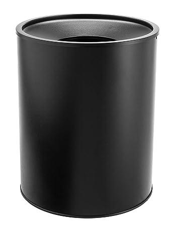 Bennett U0026quot;Center Openu0026quot; Trash Can, Small Office Metal Wastebasket,  Modern Home
