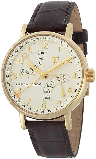 e638d3d0f4a TX Men's T3C202 Classic Perpetual Calendar Yellow Gold Brown Leather ...