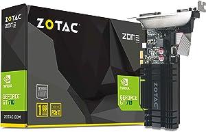 ZOTAC GeForce GT 710 1GB DDR3 PCIE x 1 , DVI, HDMI, VGA, Low Profile Graphic Card (ZT-71304-20L)