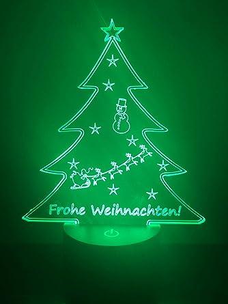 LED Lampe - Weihnachtsbaum - Frohe Weihnachten: Amazon.de: Beleuchtung