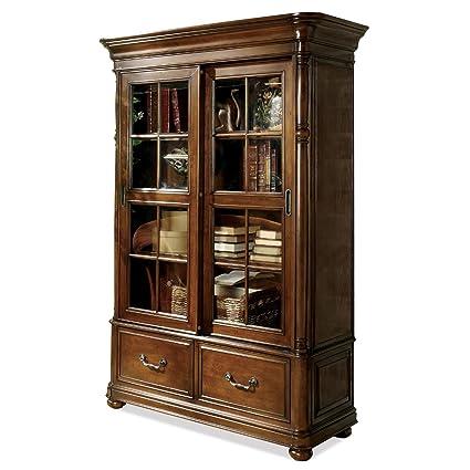 Merveilleux Amazon.com: Riverside Furniture Bristol Court Sliding Door Bookcase In  Cognac Cherry: Kitchen U0026 Dining
