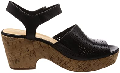 0fc2d2a331b1 Clarks Maritsa Nila Leather Sandals in Black Standard Fit Size 7  Amazon.co.uk   Shoes   Bags