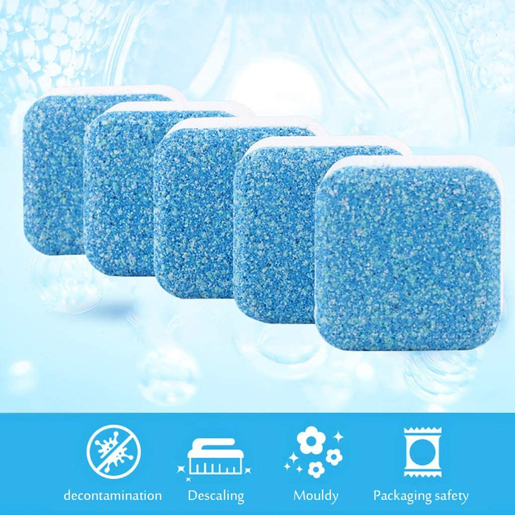 Hemgk 13pcs Washing Machine Tank Cleaning Films, Front Loading Washers Descaling Tablets Effervescent Tabs, Cleaning Agents All Purpose, Durable, for Car, Coffee Machine, Steam Oven, Toilet
