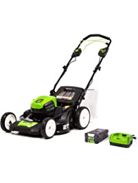 Greenworks MO80L410 Pro 80V 21-Inch Brushless Self-Propelled Lawn Mower 4Ah Battery Included