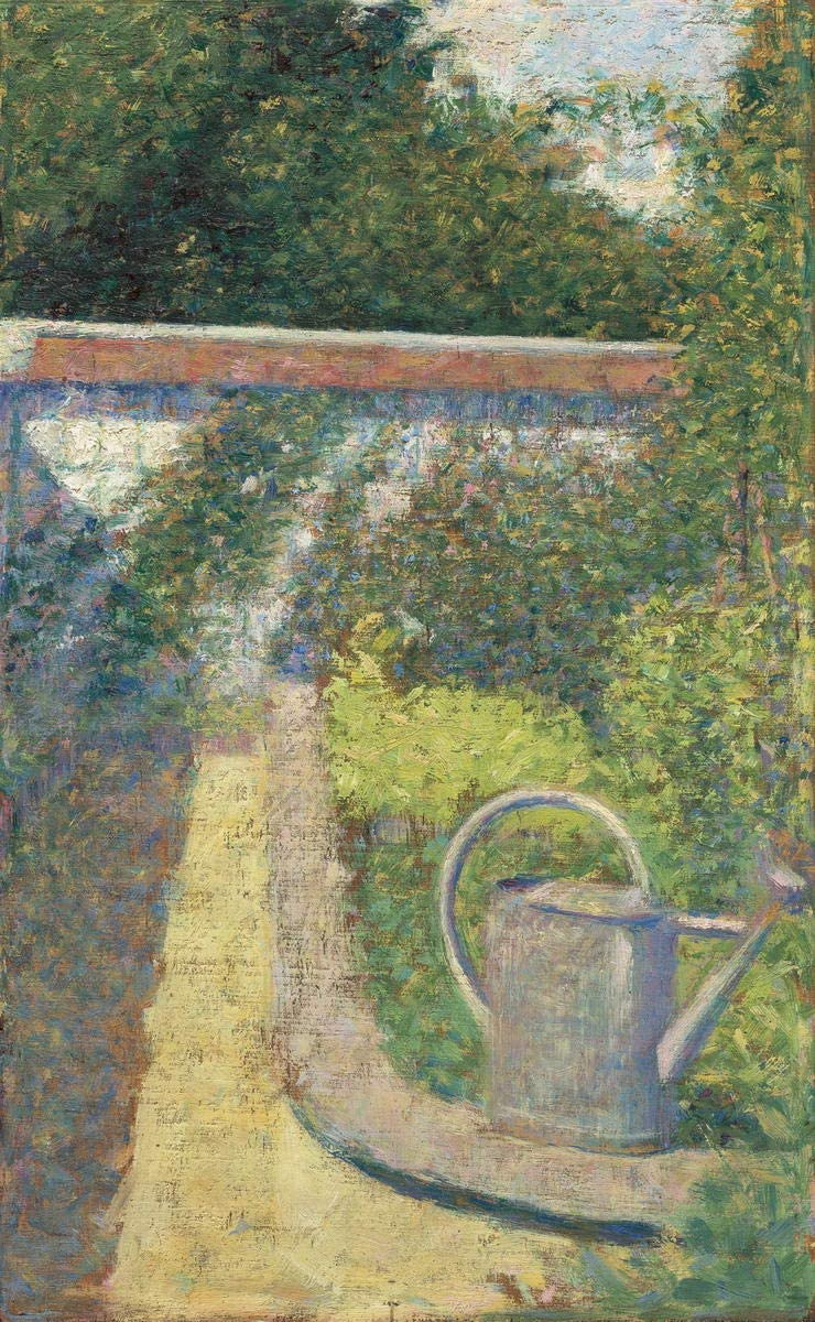 Berkin Arts Georges Seurat Giclee Canvas Print Paintings Poster Reproduction(The Watering Can Garden at The Raincy) #XFB