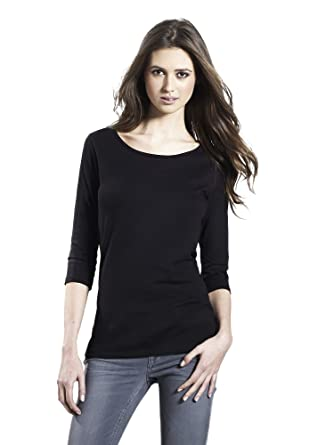 2f1d2db5d0 Black T-shirt for Women | 100% PREMIUM Organic Cotton Long Sleeve Tee
