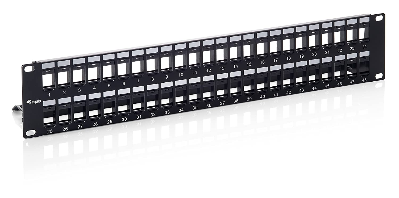 Equip 769249 - Panel de conexiones (48 puertos, categorí a 6, 19', 2U), Negro categoría 6 19 Equip Spain