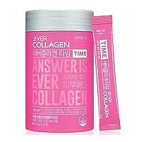 EVER COLLAGEN TIME Collagen Powder, Low Molecular Collagen Peptides Powder Stick Supplement - 30 Ct - Easy to Take Without Water, Collagen Powder for Women