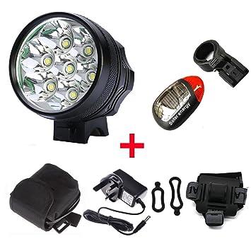 feiyi 7 x CREE XML XM-L T6 LED 10000 lumens ciclo bicicleta recargable faros