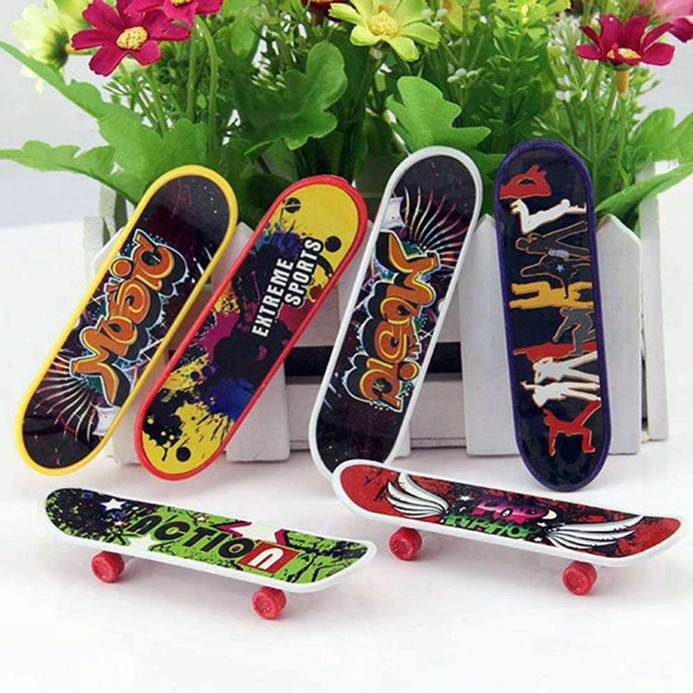 Creative Fingertips Movement Party Favors Novelty Toys for Kids Party Supplies Props Decoration Finduat 10 Pcs Mini Fingerboards Finger Skateboard Toy