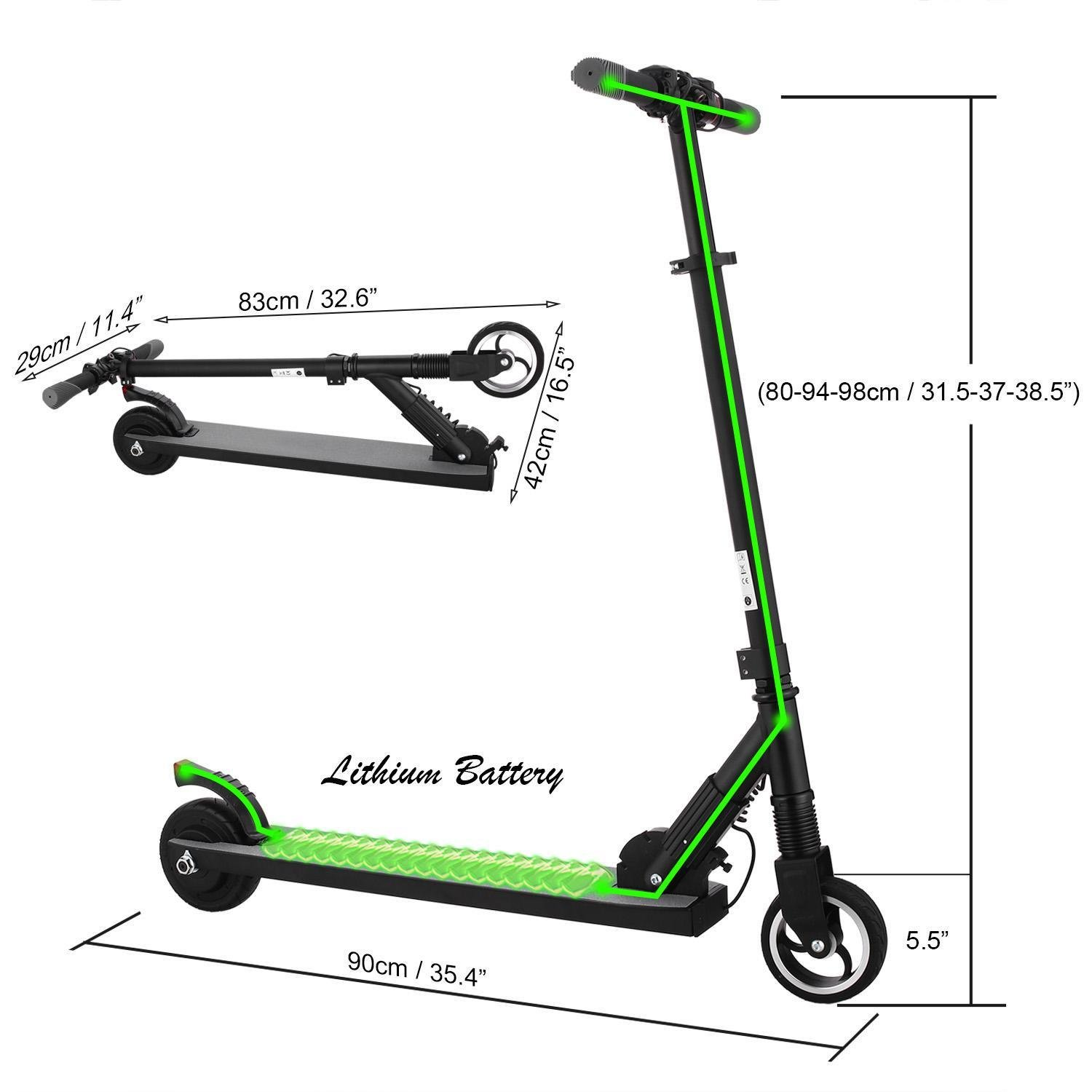 Electric Scooter for Teens & Adult, Portable Folding Commuter Scooter, Up to 14mph, Endurance 8-10km, Suit Riders 145-175cm