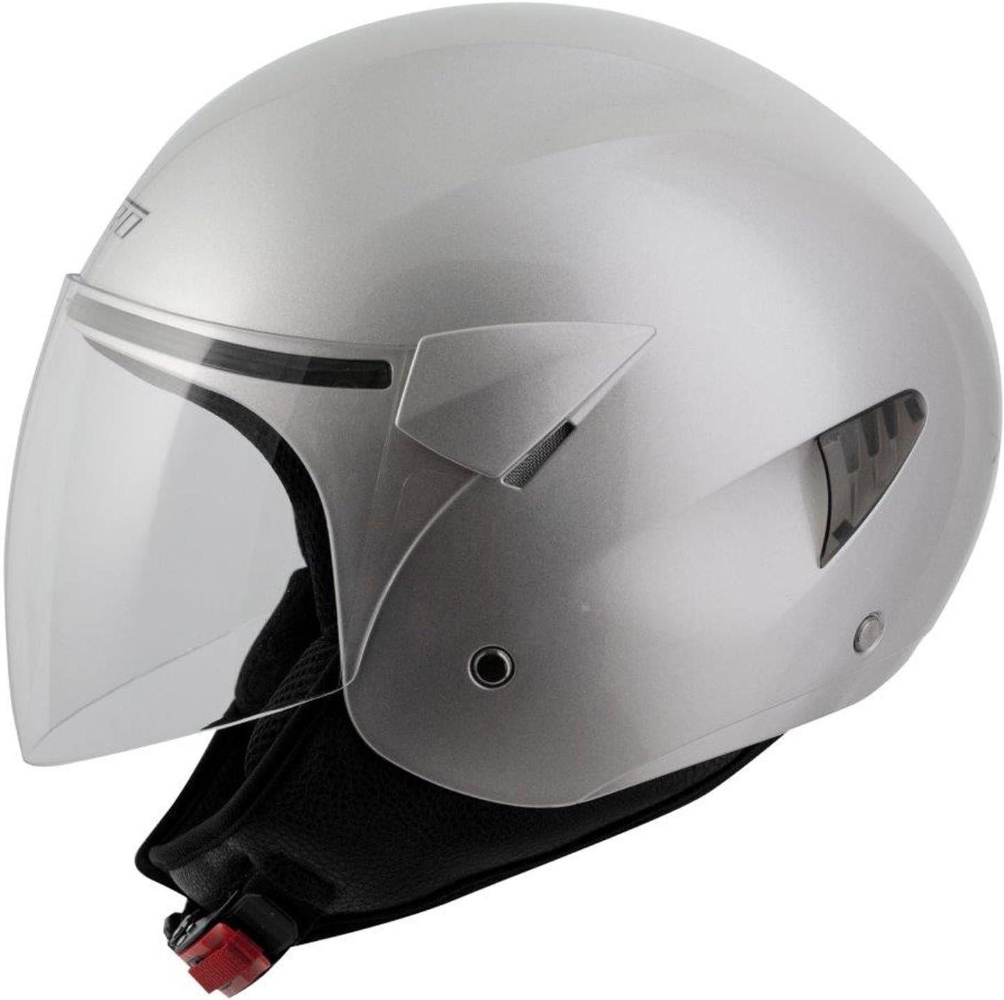A-Pro Motorradhelm Motorrad Roller Jet Helm Demi Jet Scooter Schwarz L