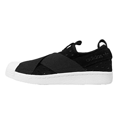 adidas Women's Superstar Slip On W, BLACK/BLACK/WHITE, ...