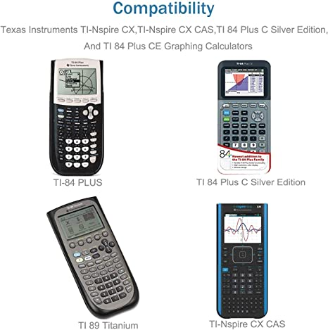 TI Nspire CX//TI Nspire CX CAS Graphing Calculators Charger Cord AC Adapter Charger Fit for TI-84 Plus CE Graphing Calculator,TI 84 Plus C Silver Edition Calculator,TI 89 Titanium