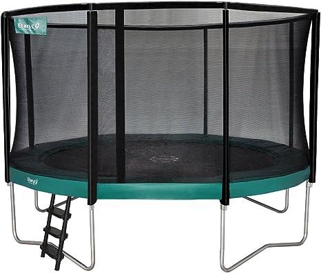 Cama elástica Etan oro incluye juego de red y escalera, colour verde, 370 cm, EPG12C: Amazon.es: Deportes y aire libre