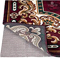 Non Slip Area Rug Pad - Fully Washable, Thick Rug Gripper for Firm Hold on Oriental, Traditional or Contemporary Rugs & Door Mats for any Hard Surface Floors - Wood, Tile or Cement (7 x 10)